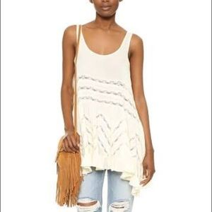 Free People Voile Top Cream